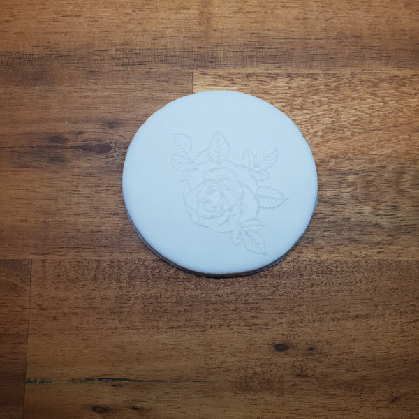 Rose (outline) Raised 3D Embosser.