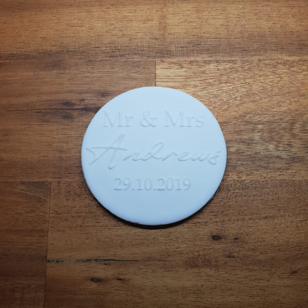 Custom Raised Wedding 3D Cookie Embosser. Engagement, Wedding - just-little-luxuries