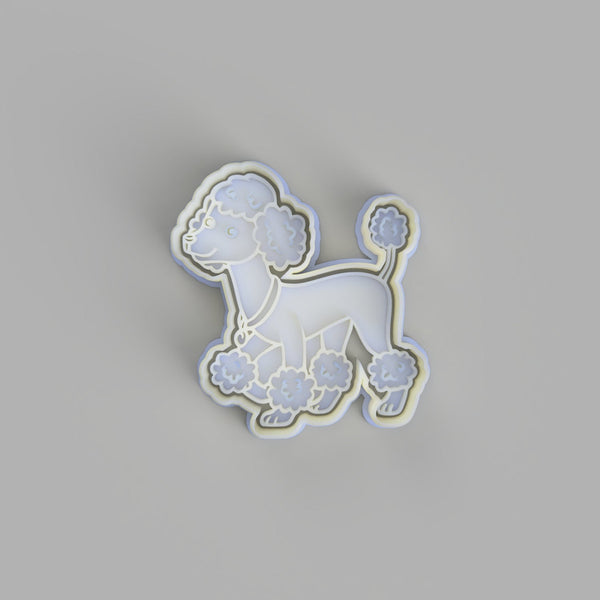 Poodle cartoon Cookie Cutter and Embosser.