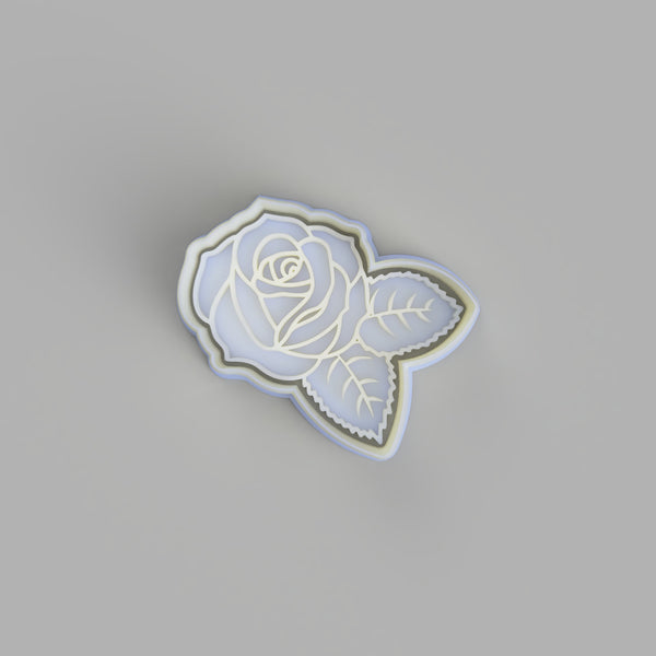 Rose (3) - Tattoo Style Cookie Cutter and Embosser
