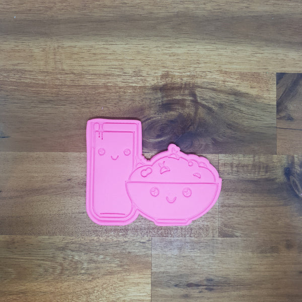 Cereal & Milk - Kawaii Food Cookie Cutter and Embosser. - just-little-luxuries