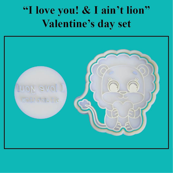 """I love you! & I ain't lion"" Valentine's Day Set - just-little-luxuries"
