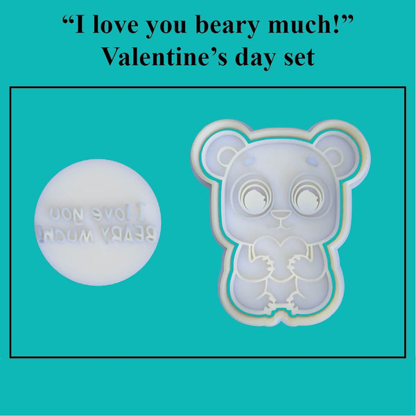 """I love you beary much"" Valentine's Day Set - just-little-luxuries"