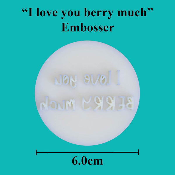 """I love you berry much"" embosser - just-little-luxuries"
