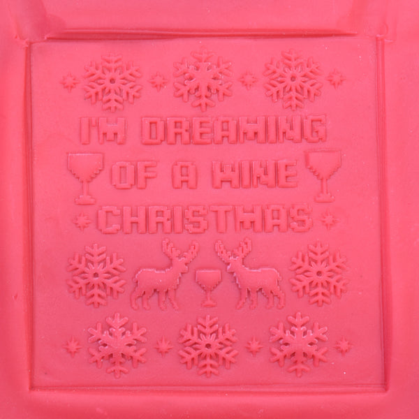 Ugly Christmas Cookies - I'm Dreaming of a Wine Christmas Raised Embosser