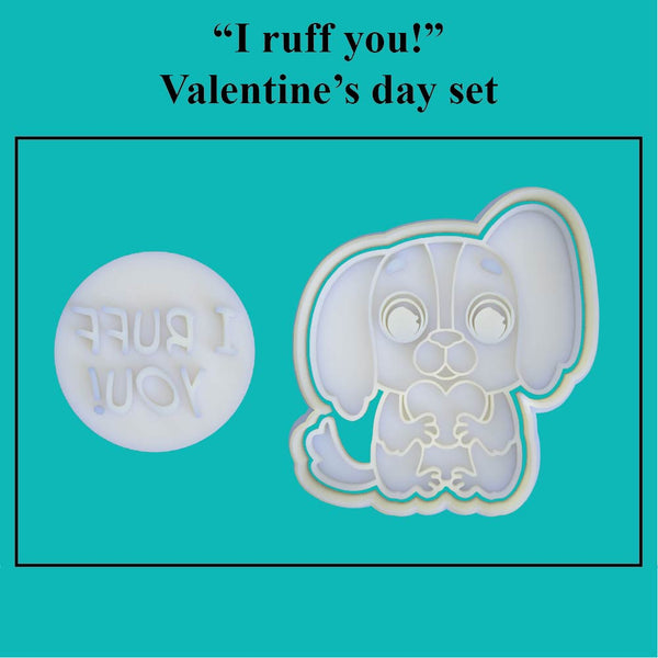 """I ruff you!"" Valentine's Day Set - just-little-luxuries"