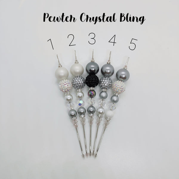 Pewter Crystal Bling Cookie Scribe