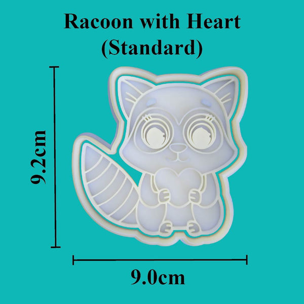 Racoon with heart Cookie Cutter - just-little-luxuries