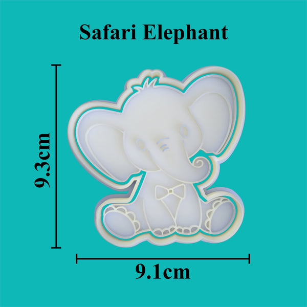Baby Elephant cookie cutter and stamper