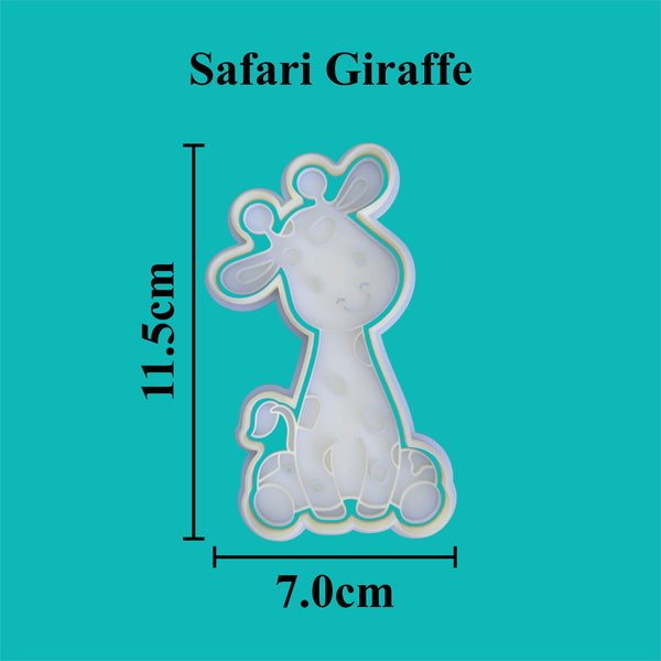 Safari Giraffe cookie cutter and stamper