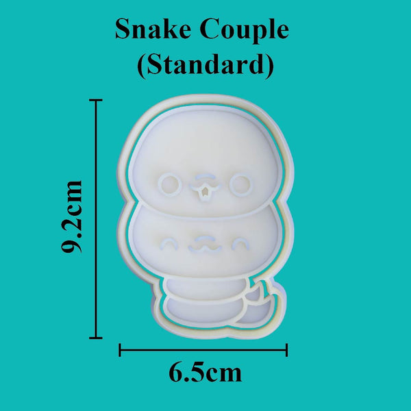 Kawaii Snake Couple Cookie Cutter - just-little-luxuries