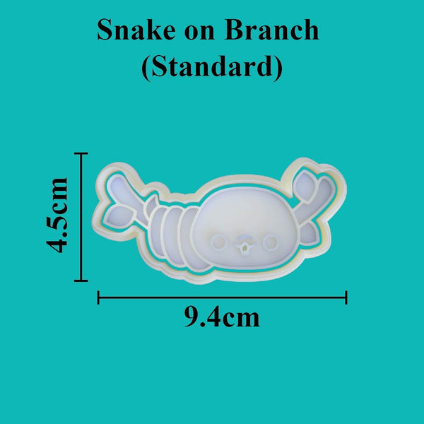 Kawaii Snake on Branch Cookie Cutter - just-little-luxuries