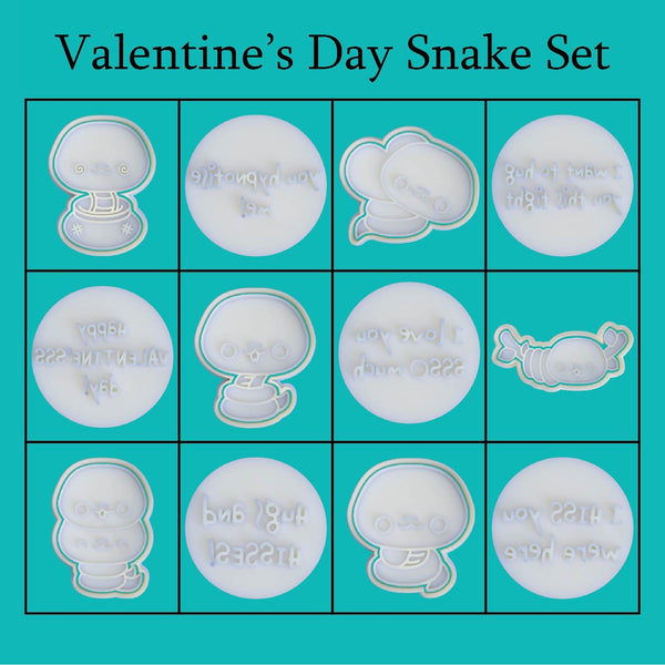 Kawaii Snakes - Valentine's Day Set - just-little-luxuries