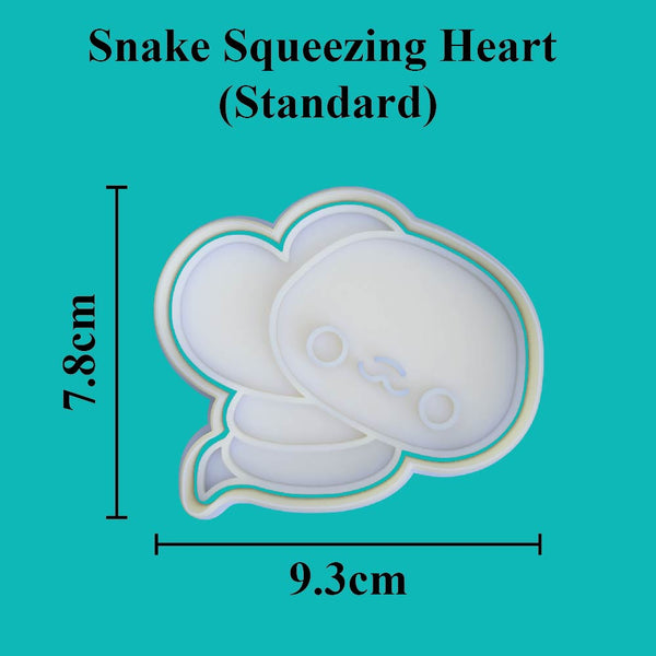 Kawaii Snake Squeezing Heart Cookie Cutter - just-little-luxuries
