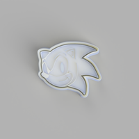 Sonic the Hedgehog Face Cookie Cutter and Embosser.