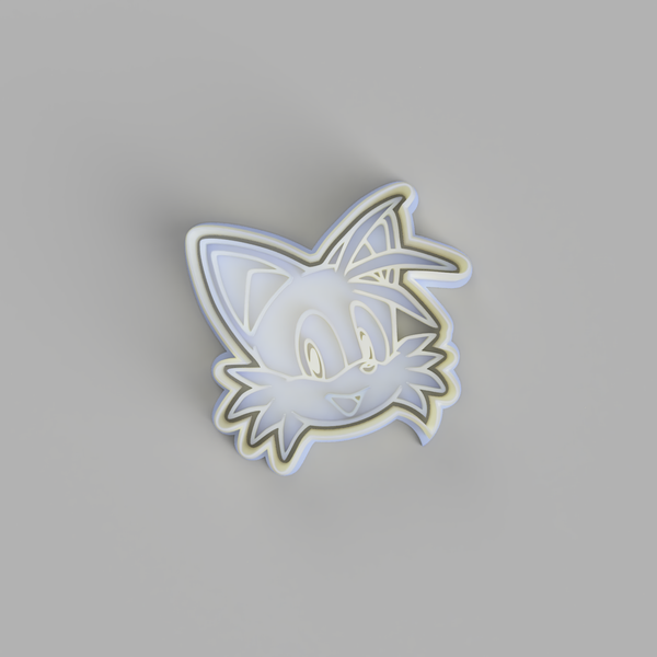 Tails Face - Sonic the Hedgehog Cookie Cutter and Embosser.