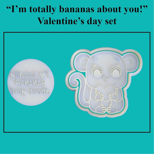 """I'm totally bananas about you!"" Valentine's Day Set - just-little-luxuries"