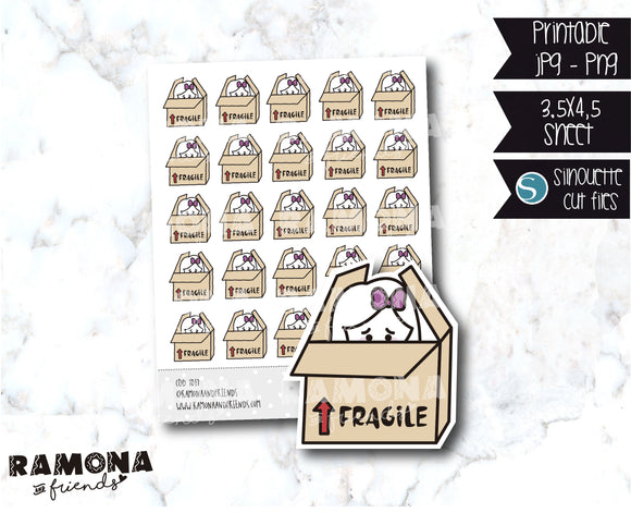 COD1017- Fragile stickers / Sad stickers