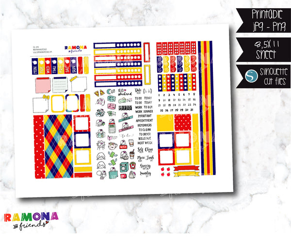COD1040- Hobonichi week stickers / Hobo stickers