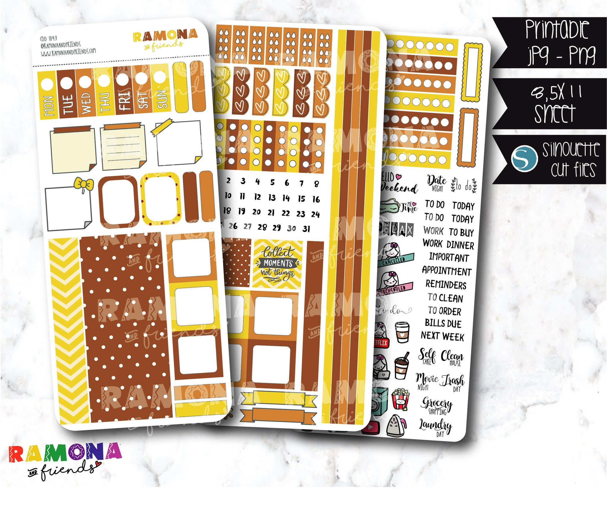 COD1043- Hobonichi week stickers / Hobo stickers