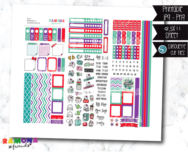 COD1044- Hobonichi week stickers / Hobo stickers