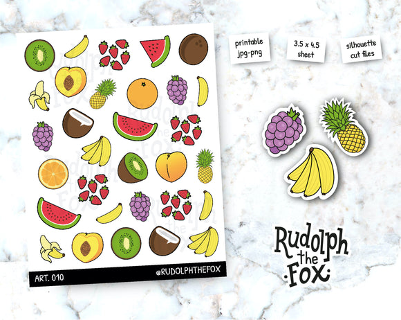 CODR10- Summer stickers / Small season fruits