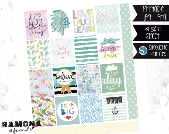COD1122- Aesthetic stickers / Erin Condren planner stickers