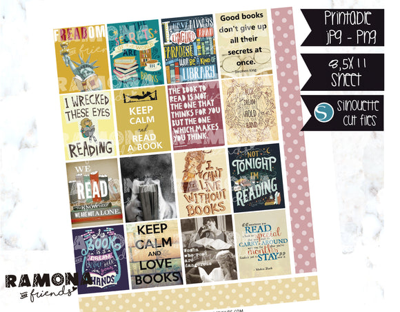 COD1125- Books stickers / Erin Condren planner stickers
