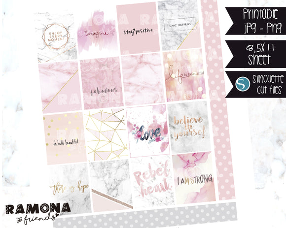 COD1129- Pink stickers / Erin Condren planner stickers