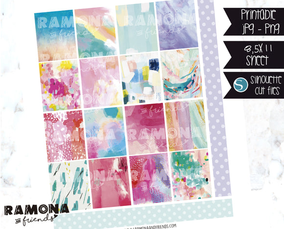 COD1130- Art stickers / Erin Condren planner stickers
