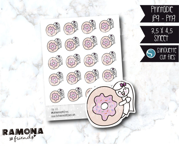 COD1155- Donas stickers / eat stickers