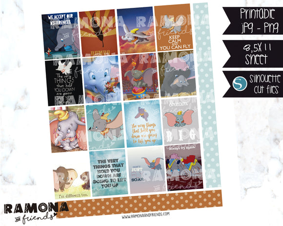 COD1181- Dumbo stickers / Erin Condren planner stickers