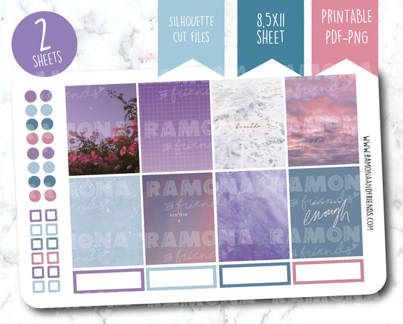 COD1193- Aesthetic stickers / Erin Condren planner stickers