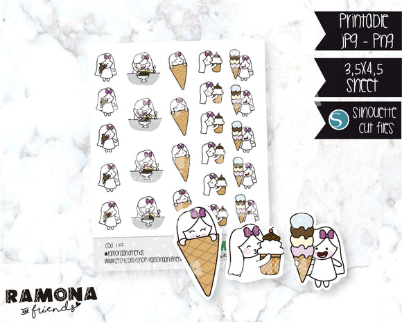 COD119-Ice cream Sticker