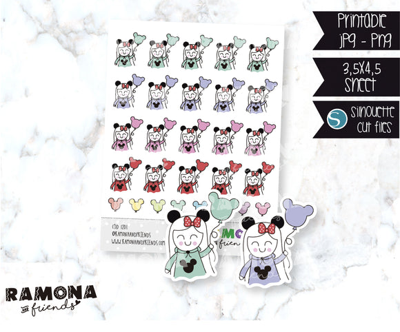 COD1201-Disney stickers/ Mousse ears stickers