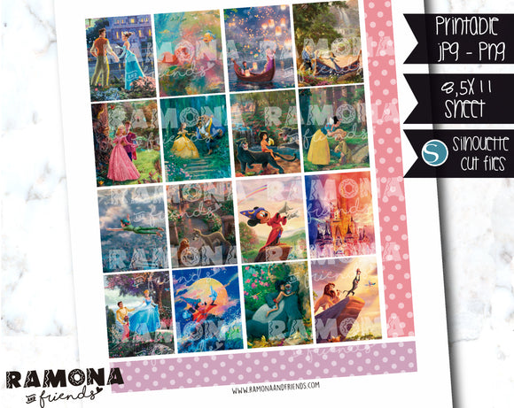 COD1214- Disney stickers / Erin Condren planner stickers