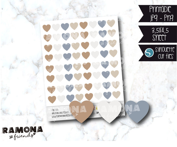 COD1218 - Heart stickers / Functional stickers