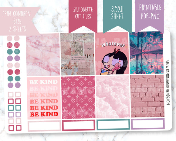 COD1226- Aesthetic stickers / Erin Condren planner stickers