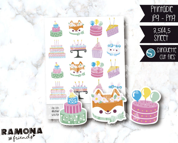 COD1237-Happy birthday stickers / Functional stickers
