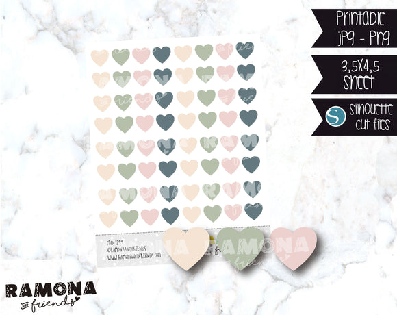 COD1249 - Heart stickers / Functional stickers