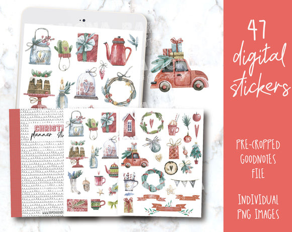 COD1256- Christmas stickers / Goodnotes stickers