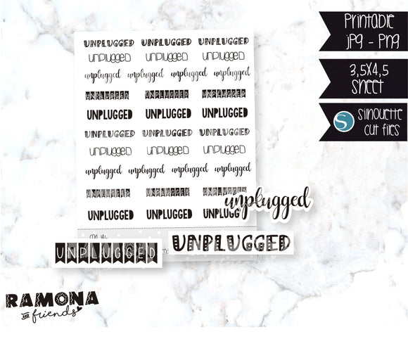COD146-Unplugged stickers