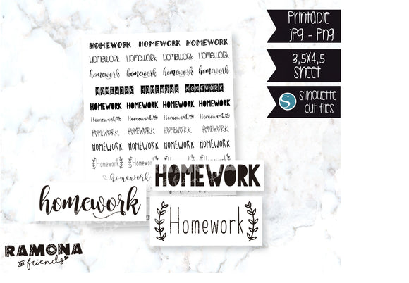 COD150-Homework stickers