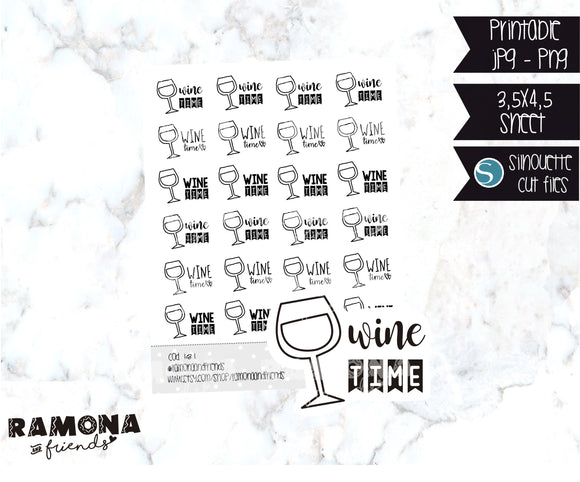 COD181-Wine stickers