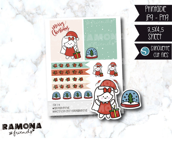 COD214-Christmas stickers