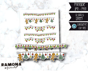 COD219-Christmas Lights Stickers
