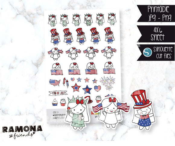 COD21-4th of July stickers-Holiday stickers