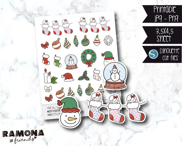 COD226-Christmas Stickers