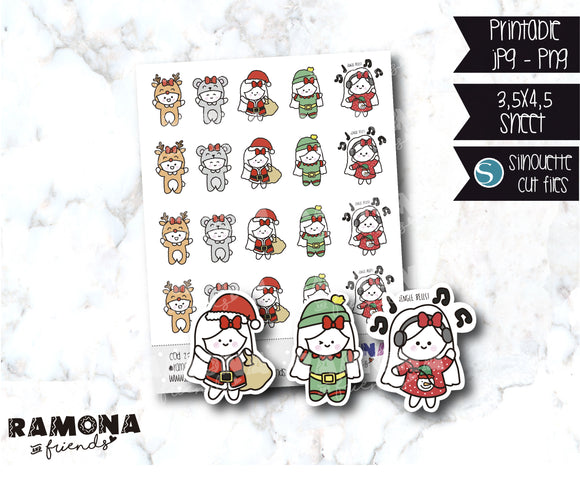COD237-Christmas stickers
