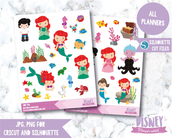 COD246- Little Mermaid stickers